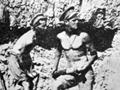 Soldiers firing field gun at Gallipoli