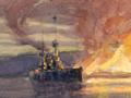 <em>The evacuation of Suvla Bay</em> by Geoffrey Allfree