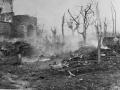 A shell blast near Cassino, 1944