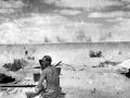 Artillery shells explode at El Alamein