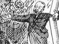 Robert Stout pontificating cartoon, 1893