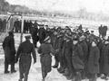 Morning parade for prisoners of war