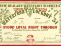 Watersiders' loyalty card, 1951