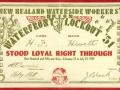 Watersiders' loyalty card, 1951