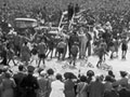Queen welcomed at Forbury Park, Dunedin, 1954