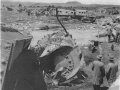 Inspecting wreckage at the Tangiwai disaster