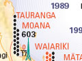 Map showing retention and protection of Māori language