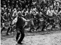 Apirana Ngata leading haka, 1940