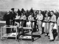 American servicemen taking tea