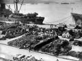 American supplies on Wellington wharves