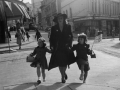 Woman on street on VE Day