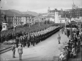 Military parade outside Parliament, 1940