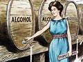 Anti-alcohol cartoon from 1905