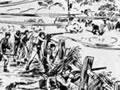 Scene from battle of Waireka