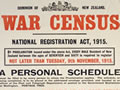 First World War census and conscription
