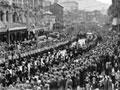 HMS <em>Achilles</em> welcome home parade in Wellington