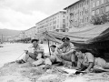 New Zealand soldiers at Trieste, 1945