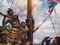 Hōne Heke cuts down the British flag -  again