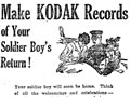 Kodak camera advert for returned soldiers