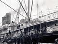 <em>Maheno</em> at Dunedin wharf, 1913