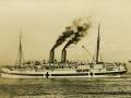 The <em>Maheno</em> sailing to war