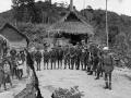 Members of  1 NZ Regiment on patrol in Malaya