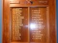 Mangawhai roll of honour board