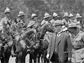 Prime Minister Massey inspects the Otago Mounted Rifles
