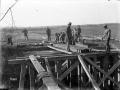 New Zealand Engineers building bridge, 1918