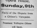 Opera House strike meeting poster