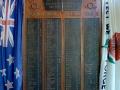 Ōpōtiki RSA roll of honour board