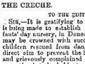 Dunedin crèche proposal, 1879