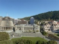 Panorama: Parliament grounds from the front