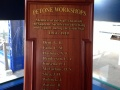 Petone railway station roll of honour board