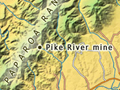 Pike River mine location map