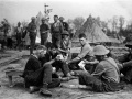 Playing cards near the Western Front line