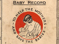 Plunket Society baby booklet