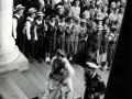 Royal couple entering Parliament, 1954