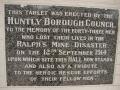 Ralph's Mine disaster memorial