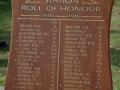 Ruakura roll of honour board
