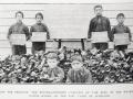 Collecting bottles for the war effort