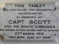 A memorial to the Antarctic explorer Captain Rober...