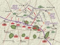 Map of Somme battles
