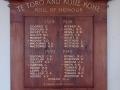 Te Toro and Kohekohe roll of honour