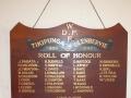 Tikipunga-Glenbervie roll of honour board