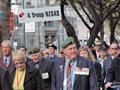 Vietnam veterans march at Tribute 08