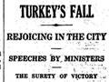 Turkey surrenders