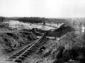 Tangiwai railway bridge after disaster, 1953