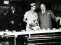 Queen visiting Wattie's factory, 1954