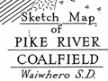 Pike River coalfield map